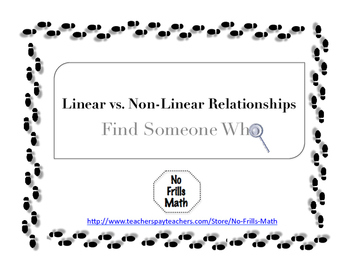 Find Someone Who -- Linear vs. Non-Linear Relationships