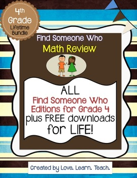 """Find Someone Who"" Math Bundle for GRADE 4 - CCSS Aligned"