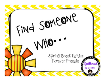 Find Someone Who Spring Break Edition Forever Freebie
