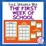 Find Someone Who - The First Week of School