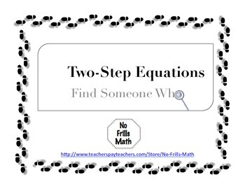 Find Someone Who -- Two-Step Equations