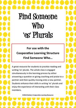 Find Someone Who: 'es' Plurals