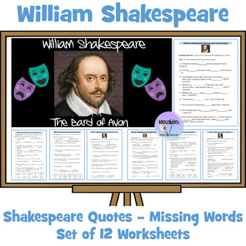 Find The Missing Words In Shakespeare Quotations - 15 Diff