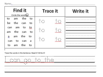 Find, Trace, Write: Have