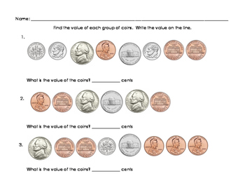 Find Value of a Group of Coins - Unordered