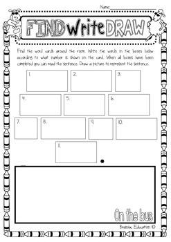 Find Write Draw