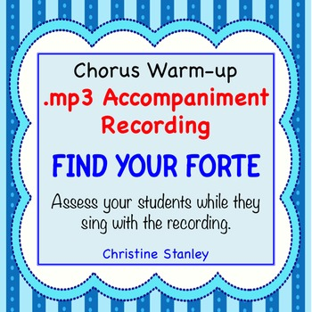 Find Your Forte Chorus Warm-up Skill Builder ♫ .MP3 Accompaniment