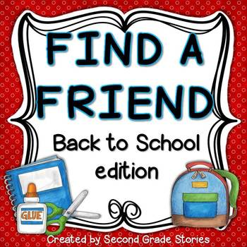 Back to School ~ Find a Friend Games