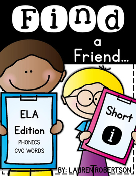 Find a Friend: Phonics CVC Words Edition {Short i}