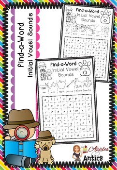 Find-a-Word - Initial Vowel Sounds