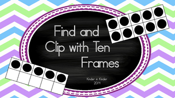 Kindergarten Find and Clip 10 Frames