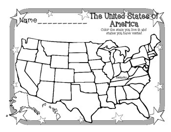 Find and Color Your State U.S. Map