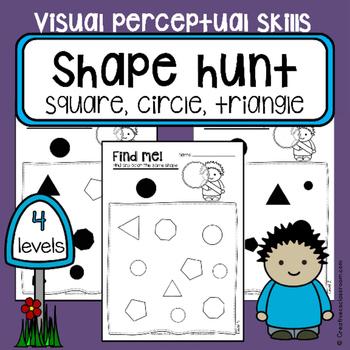 Find and color shapes - Visual perceptual skills - Occupat