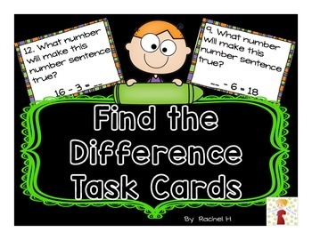 Find the Difference Task Cards