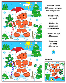 Find the Differences Picture Puzzle with Ginger Man, Comme