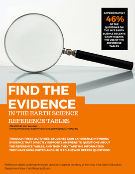 Find the Evidence Earth Science Reference Tables