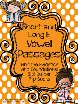 Find the Evidence and Vowel Sort Flip Books {Short and Lon