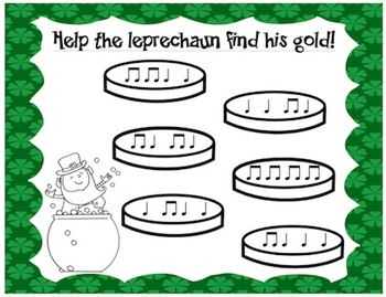 Find the Leprechaun's Gold {Rhythm ID Worksheets}