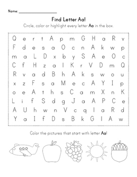 Find the Letter - Letter A