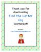 Find the Letter - Letter Qq