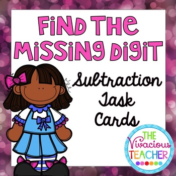 Missing Subtrahends Task Cards/ Scoot Activity
