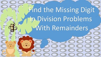 Find the Missing Digit in a Division Problem with Remainde