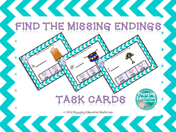 Find the Missing Endings (Word Families) Task Cards