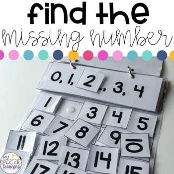 Find the Missing Number 3 Adapted Books: Numbers 1-50