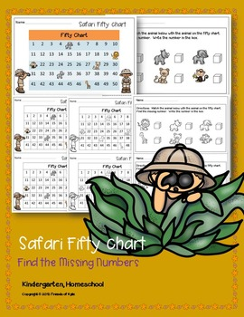 Fifty Chart. Find the Missing Numbers. No Prep. Ready 2 GO.