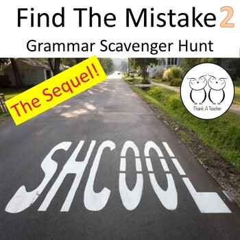 Find the Mistake 2 Scavenger Hunt Students Correct Real Wo