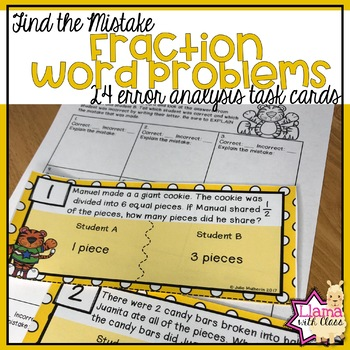 Find the Mistake: Fraction Word Problems