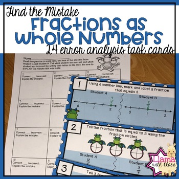 Find the Mistake: Fractions as Whole Numbers