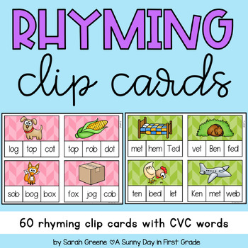 Find the Rhyme {just add clothespins!}