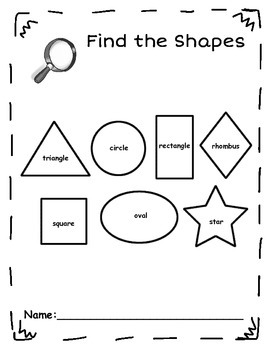 Find the Shapes Book - 2D Shapes
