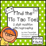 Find the Tic Tac Toe! 2-digit addition with regrouping Bun