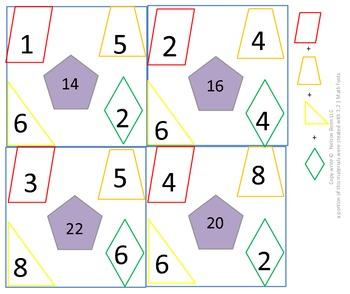1st gr & 2nd gr Math Calendar - Find the rule, 2D shapes,
