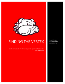 Find the vertex review