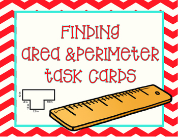 Finding Area and Perimeter Task Cards- 48 Cards