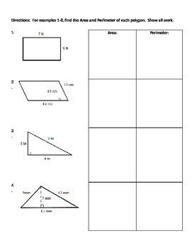 2D Geometry 02 - Finding Area and Perimeter of 2-Dimension