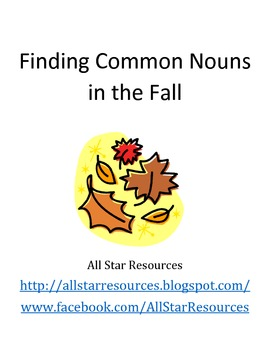 Finding Common Nouns in the Fall Activity