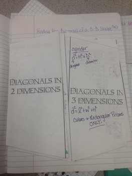 Finding Diagonals in 2 and 3 dimensions using Pythagorean