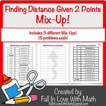 Finding Distance (from two points) Using the Distance Form