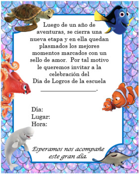 Finding Dory Invitation Editable!!!!