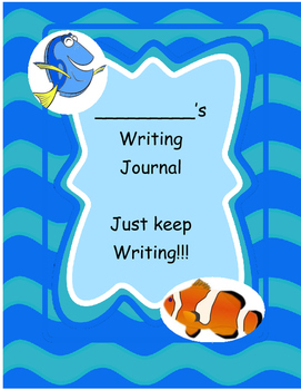 Finding Dory Primary Writing Journal