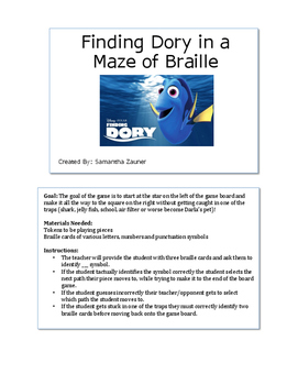 Finding Dory in a Maze of Braille