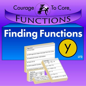 Finding Equations for Linear Functions (LF3): HSA.CED.A.2,