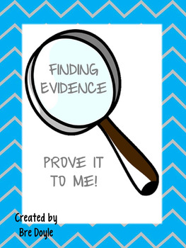 Finding Evidence Task Cards