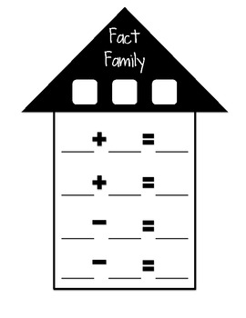 Finding Fact Families Addition and Subtraction Worksheet