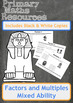 Finding Factors and Multiples Worksheets - Ancient Egyptia