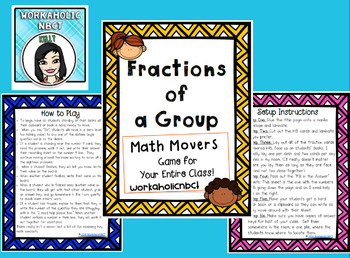Finding Fractions of a Group Math Movers Game
